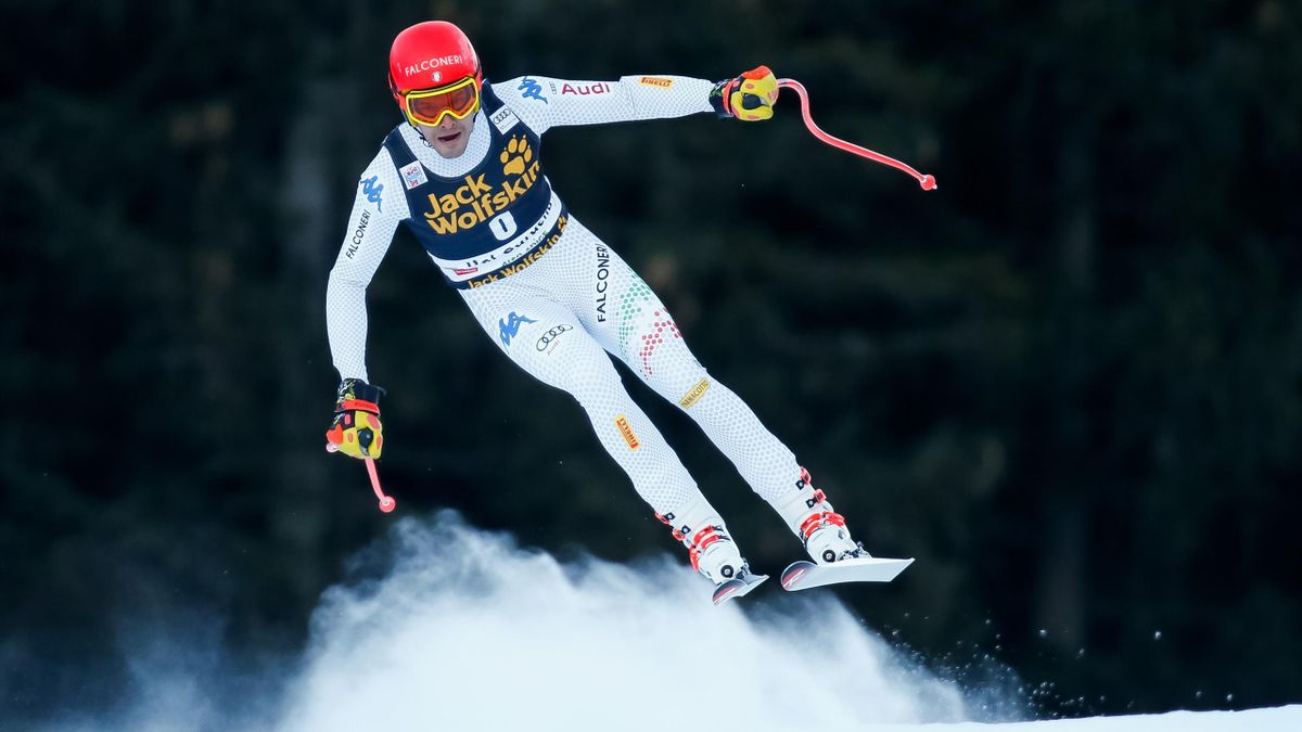 Christof Innerhofer of Italy competes during the Audi FIS Alpine Ski World Cup Men,s Downhill on December 15, 2018 in Val Gardena Italy.