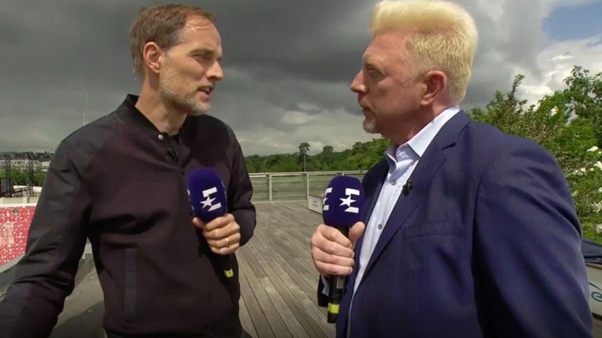 Thomas Tuchel und Boris Becker bei Eurosport