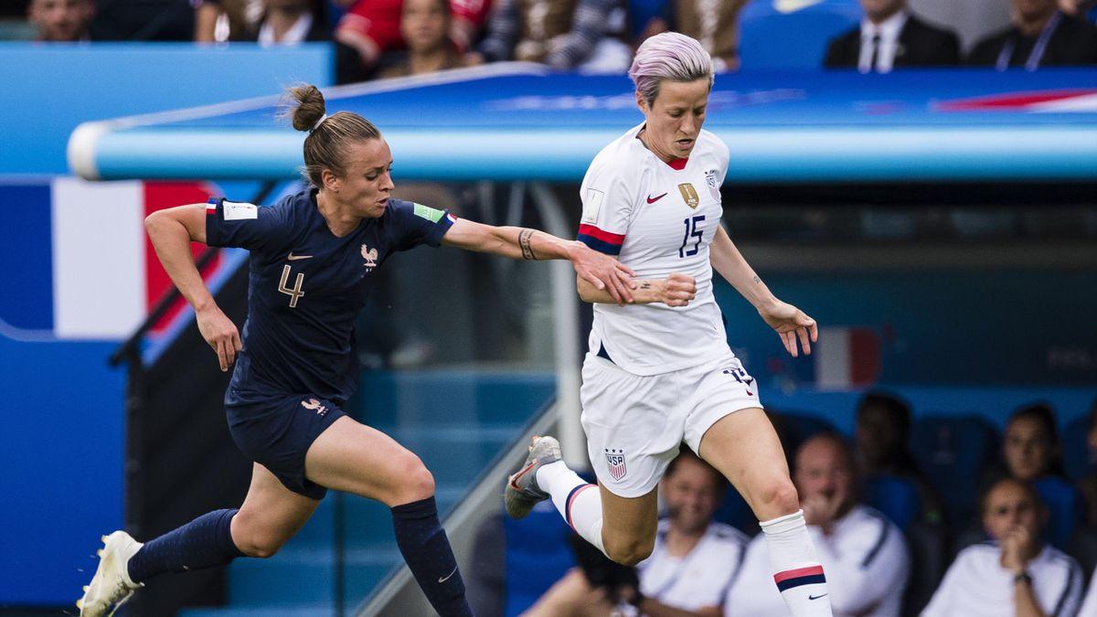 Marion Torrent face à Megan Rapinoe, lors de France - Etats-Unis au Mondial 2019