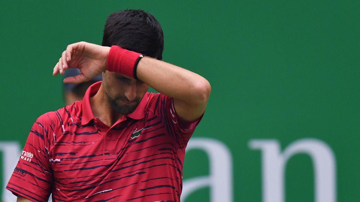 Novak Djokovic à Shanghaï en 2019