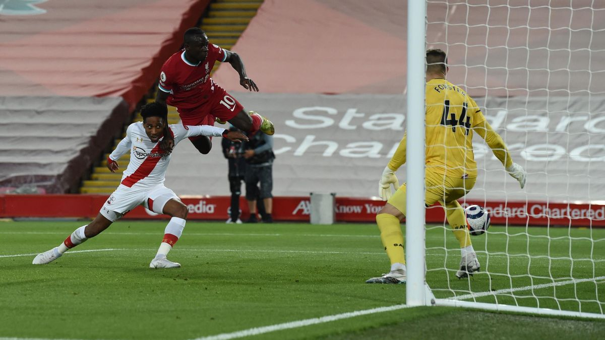Sadio Mané trifft - FC Liverpool vs. FC Southampton