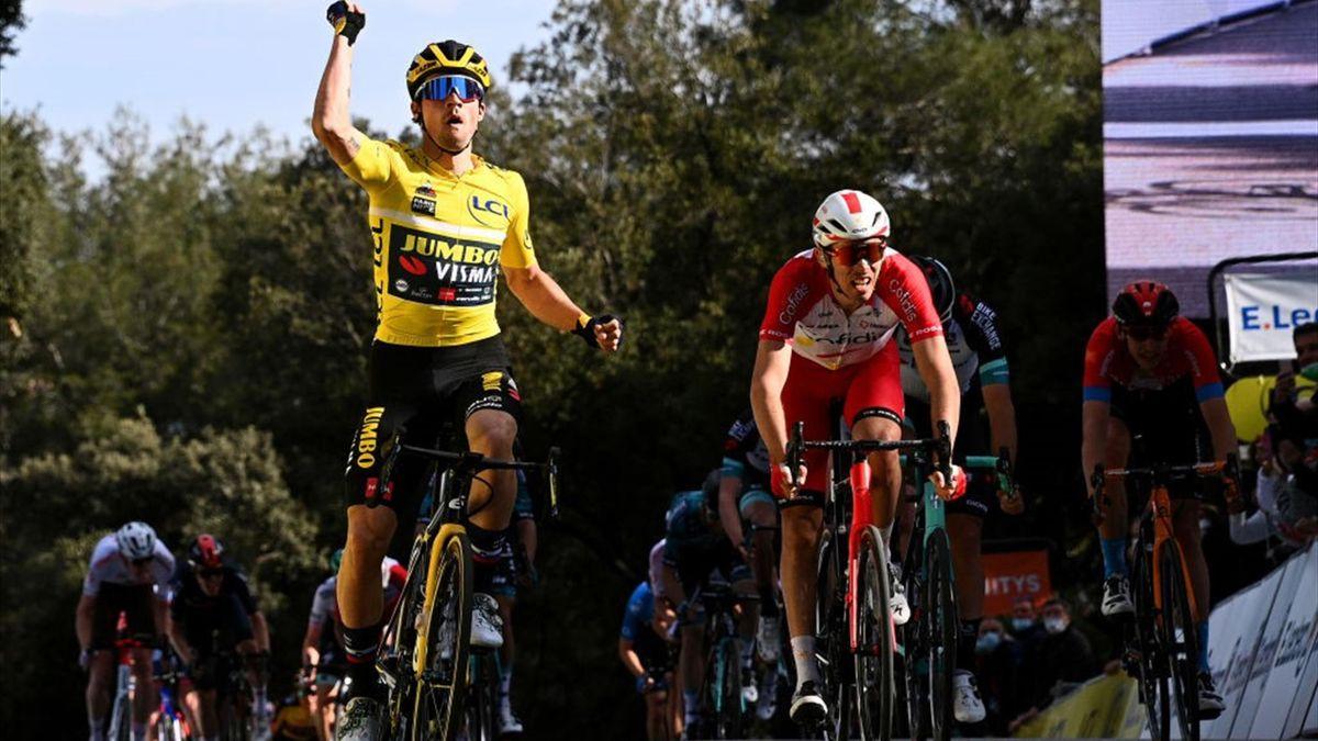 Primoz Roglic, Christope Laporte - Parigi-Nizza 2021, tappa 6 - Getty Images