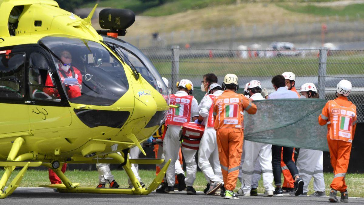 L'elicottero che ha trasportato Dupasquier all'ospedale Careggi di Firenze, Getty Images