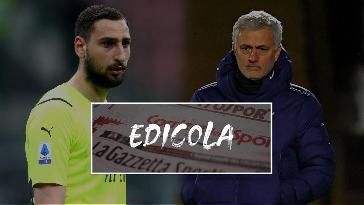 Edicola   Calciomercato, Donnarumma-Mourinho