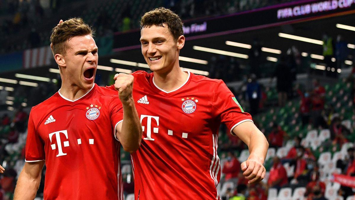 Joshua Kimmich (links) mit Benjamin Pavard - FC Bayern