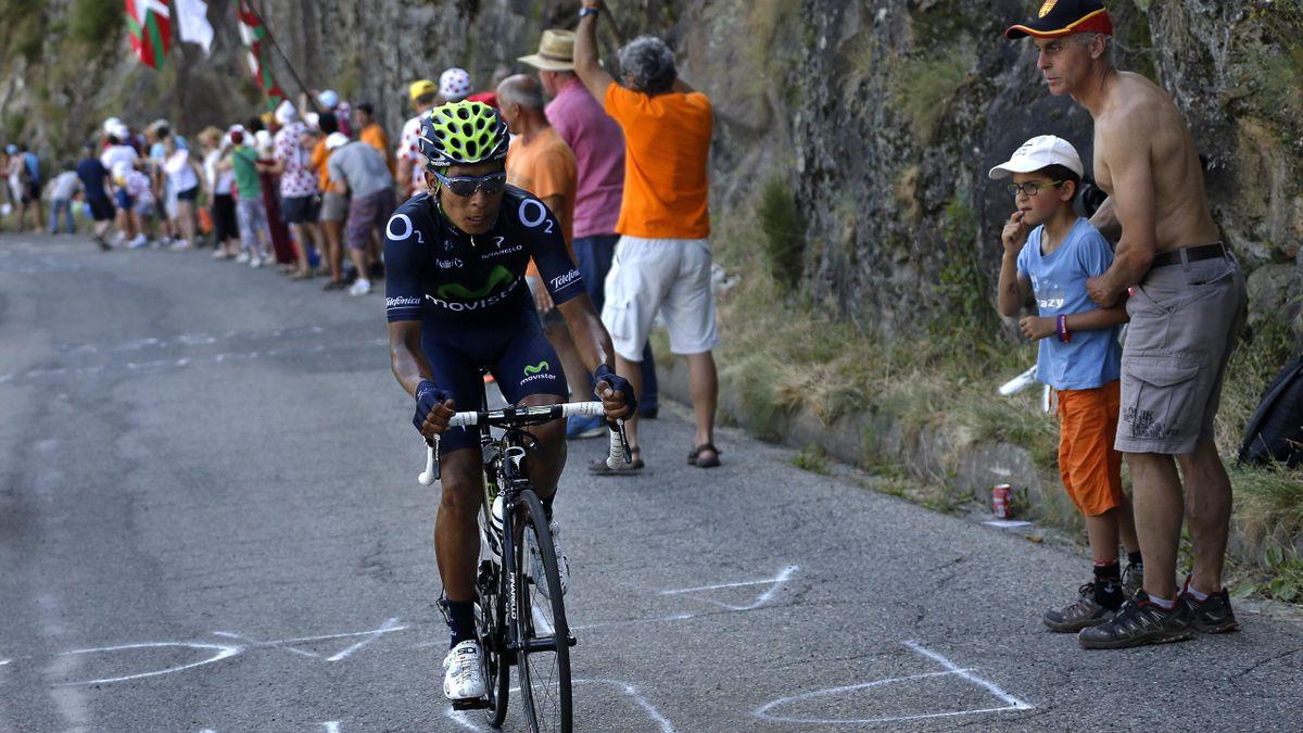 Nairo Quintana (Movistar) lors de l'étape 8 du Tour de France 2013