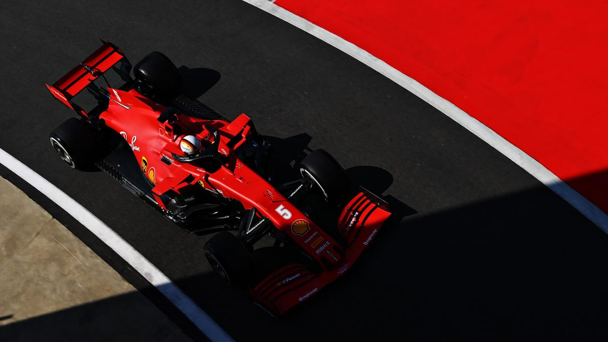 Sebastian Vettel in Silverstone 2020 - Ferrari