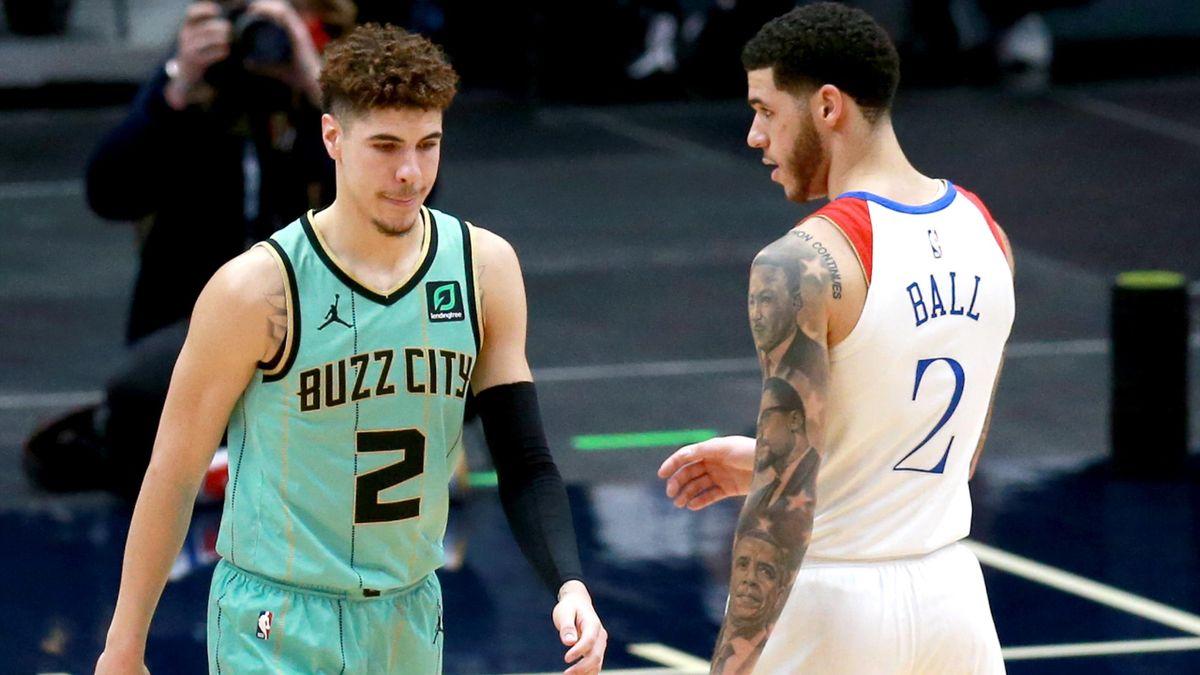 LaMelo Ball (Charlotte Hornets), Lonzo Ball (New Orleans Pelicans)