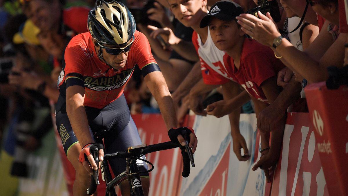 Vincenzo Nibali à l'Alpe d'Huez.