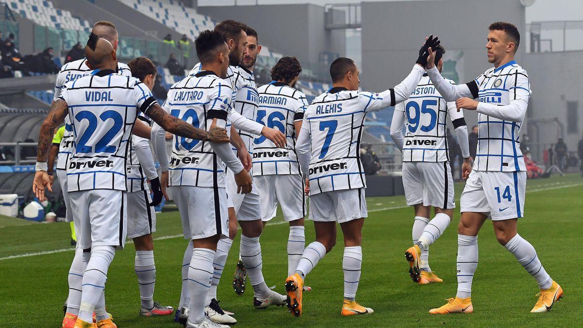 Sassuolo-Inter, il gol del vantaggio di Sanchez