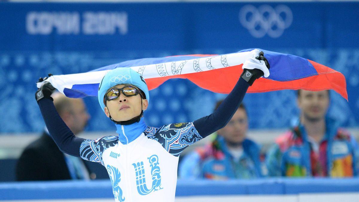 Виктор Ан на Олимпиаде в Сочи