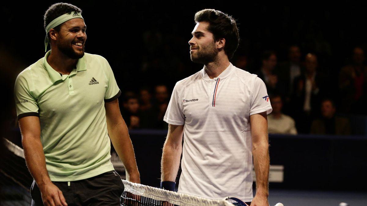 Jo-Wilfried Tsonga et Jules Marie en finale de l'Open de Caen en 2019
