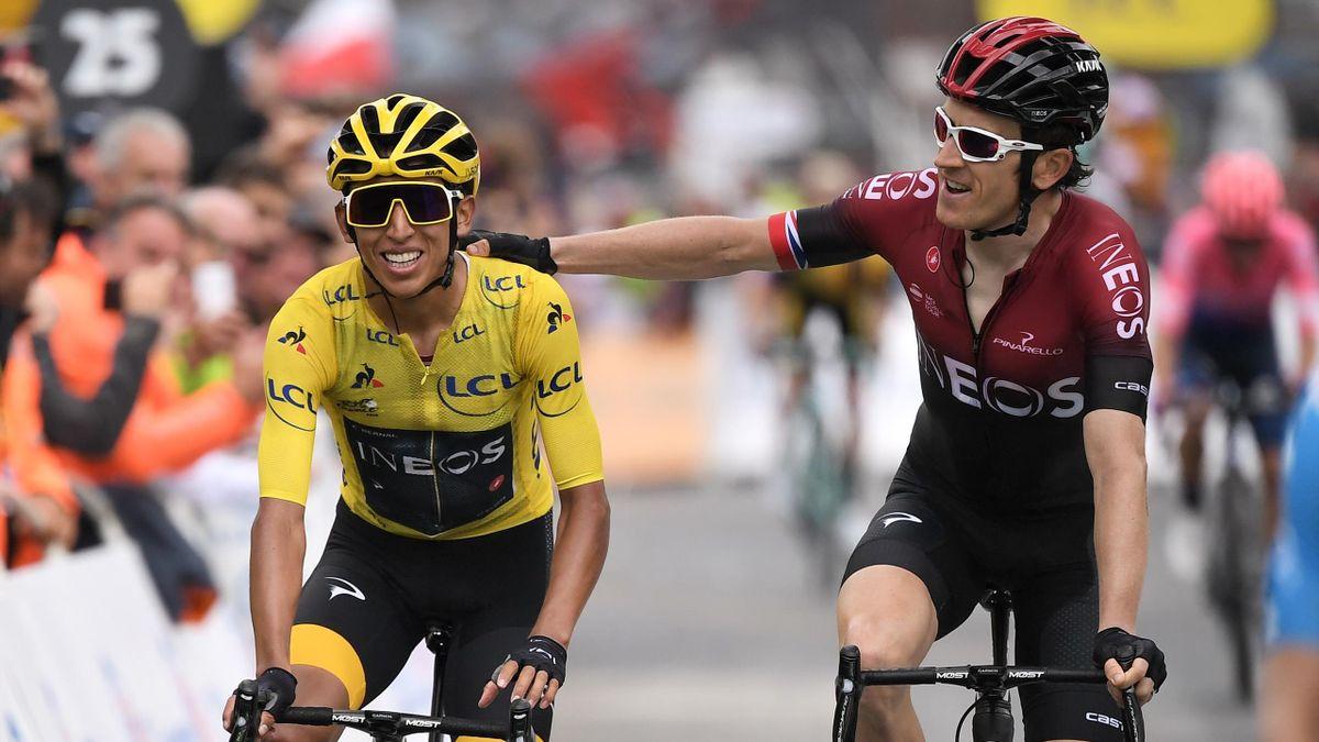 Egan Bernal (links) fährt 2021 den Giro - Geraint Thomas ist bei der Tour de France dabei