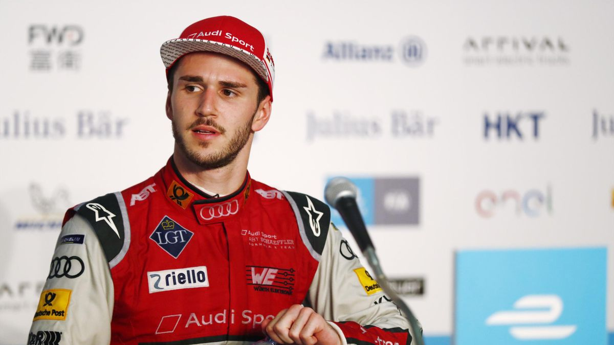 In this handout from FIA Formula E - Daniel Abt (GER), Audi Sport ABT Schaeffler, Audi e-tron FE04 during the Hong Kong ePrix, Round 2 of the 2017/18 FIA Formula E Series at the Central Harbourfront Circuit on December 03, 2017 in Hong Kong, Hong Kong.