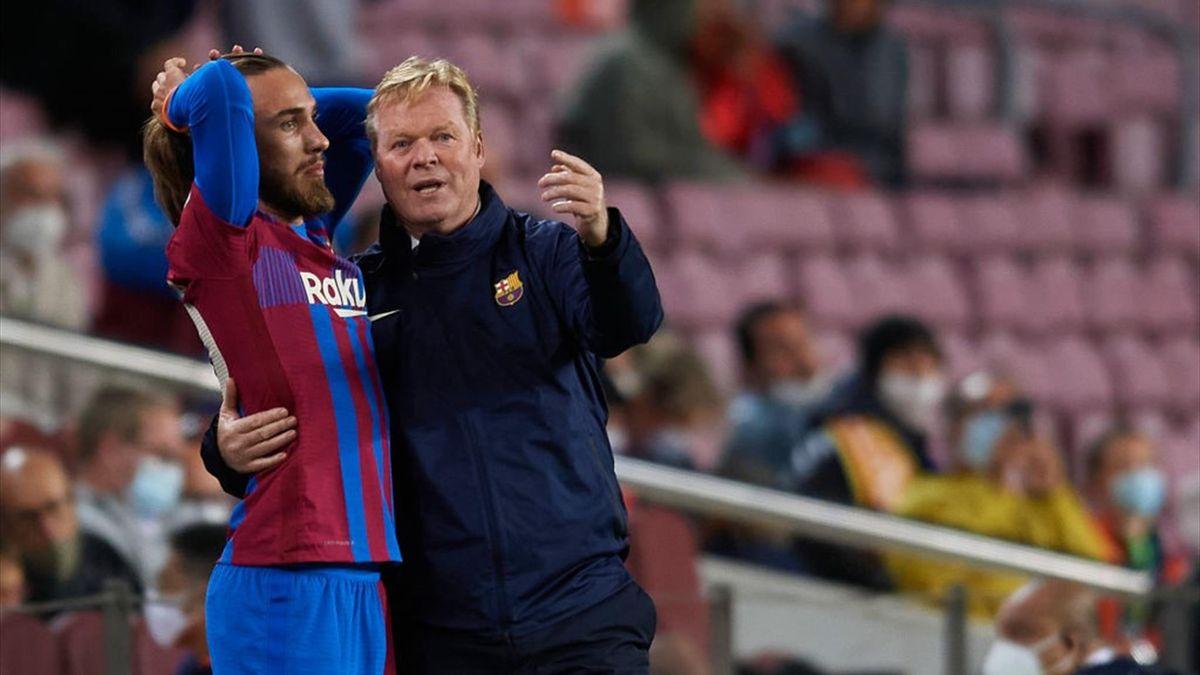 Ronald Koeman y Mingueza, Barcelona 1-1 Granada