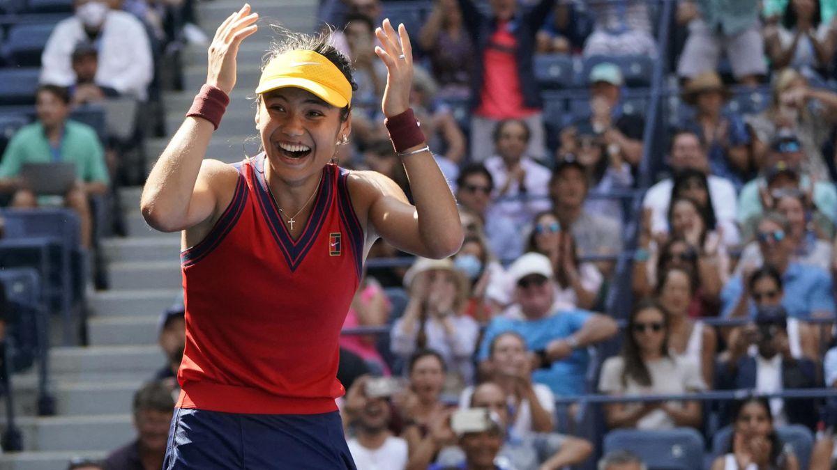 Emma Raducanu celebra su pase a las semifinales del US Open 2021