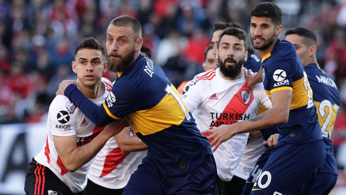 Pas de vainqueur pour le premier Super Clasico River Plate - Boca Juniors disputé par Daniele De Rossi, le 1er septembre 2019 à Buenos Aires.