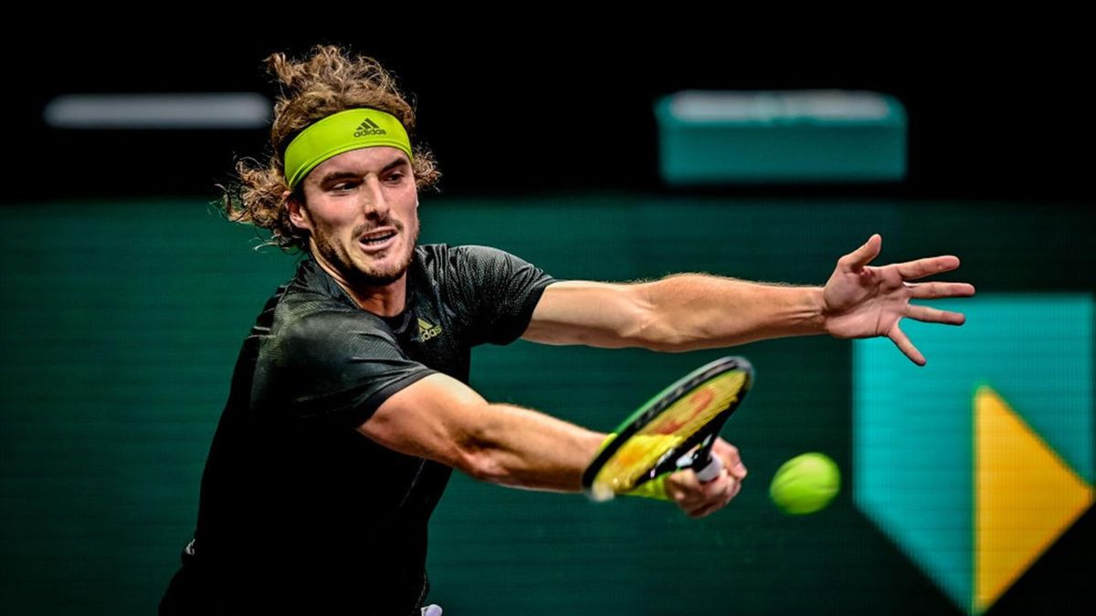 Tsitsipas during the ABN Amro WTT at the Ahoy Rotterdam on March 2, 2021 in Rotterdam