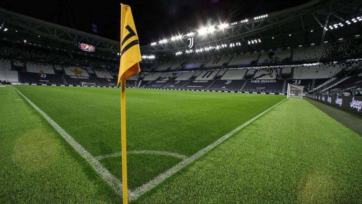 Allianz Stadium deserto per Juventus-Napoli con i giocatori della squadra di Gattuso che non si sono presentati - Serie A 2020/2021 - Getty Images