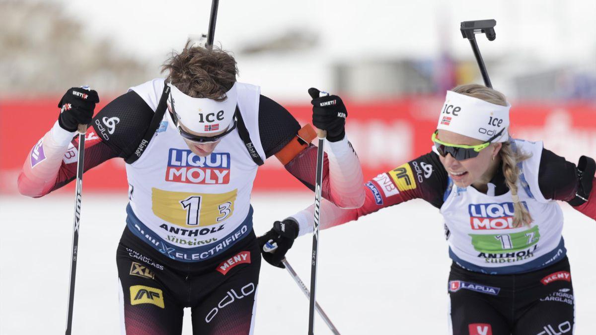 Johannes Thingnes Bø og Tiril Eckhoff