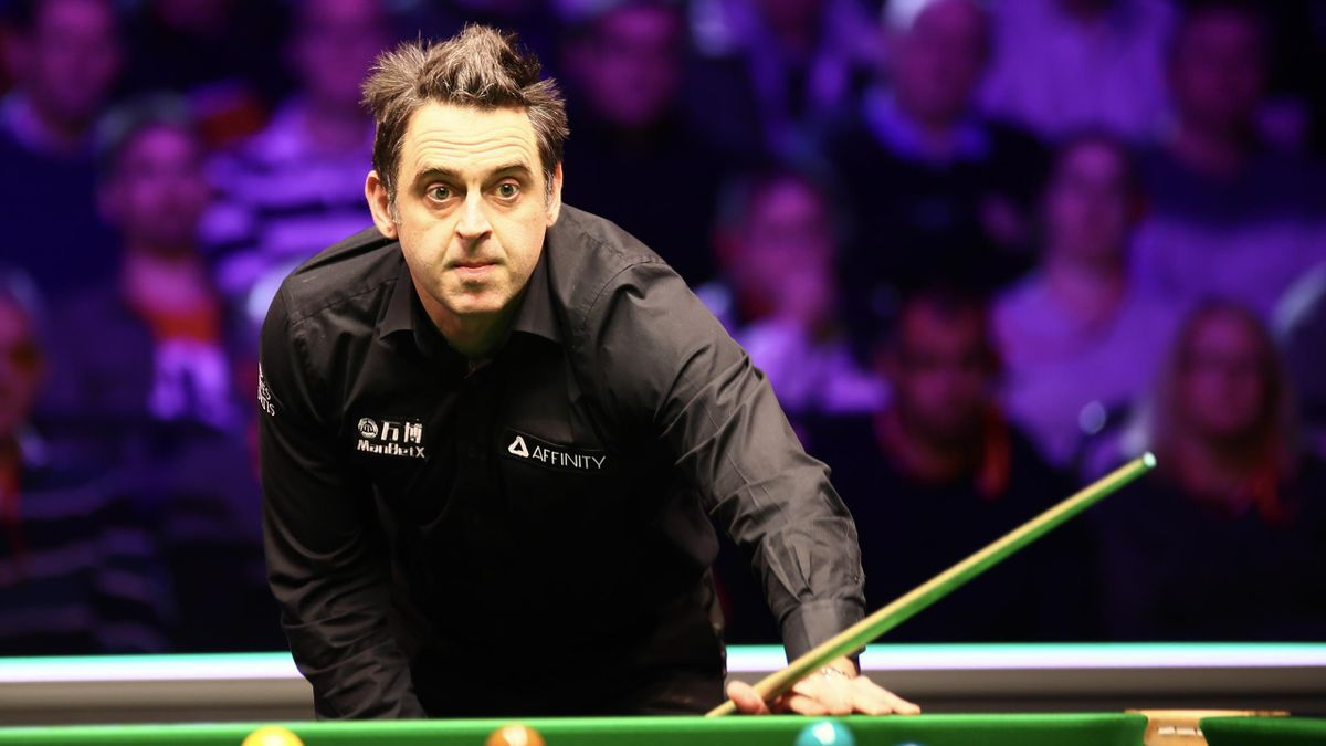Ronnie O'Sullivan of England reacts during the quarter-final match against Mark Selby of England on day five of the 2020 ManBetX Welsh Open