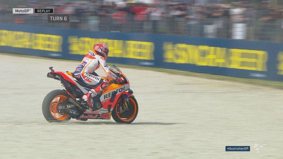 Australian GP - MotoGP - FP2 Marquez out of track