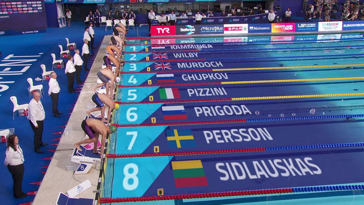 European Championship: final 200m breaststroke men