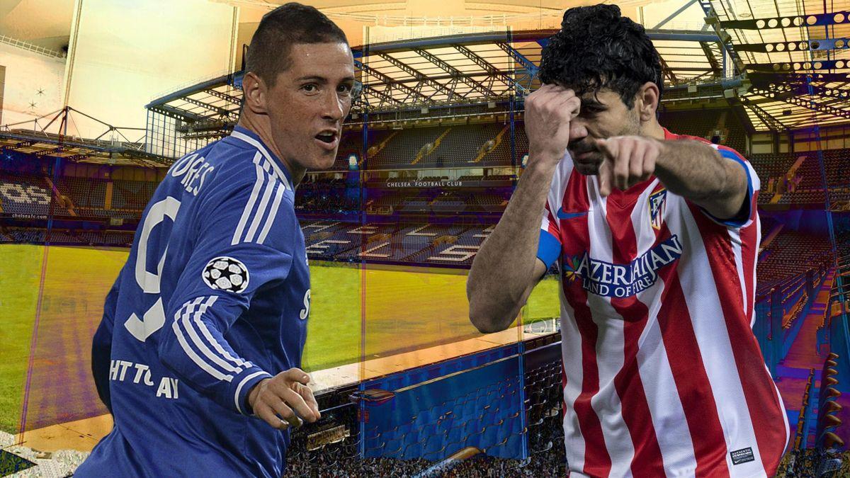 Fernando Torres (Chelsea) y Diego Costa (Atlético de Madrid)