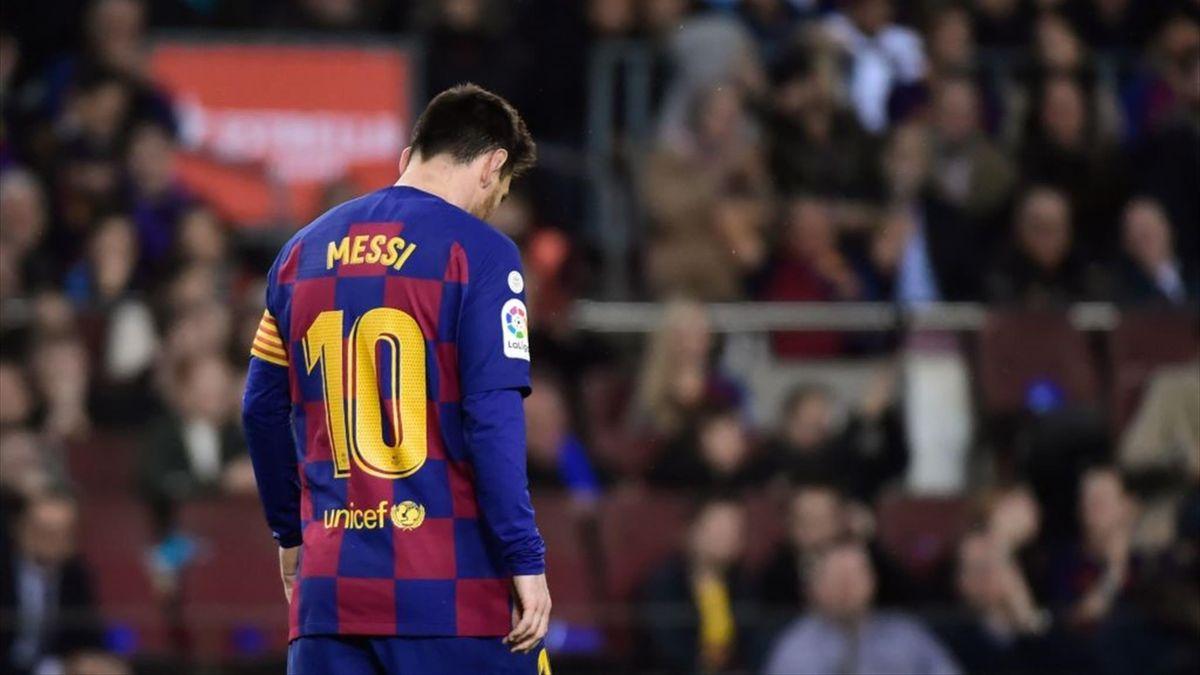 Lionel Messi en el Clásico Barcelona-Real Madrid