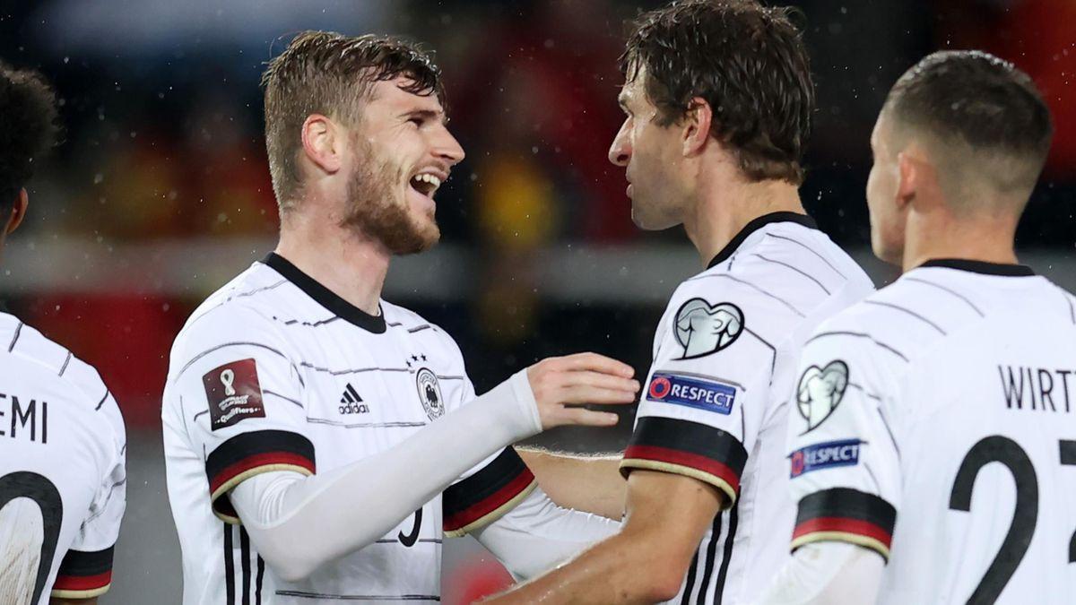 Timo Werner celebrates scoring