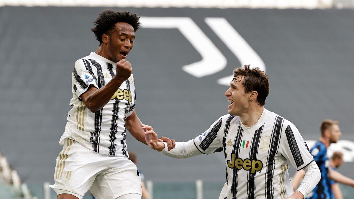 La gioia di Cuadrado che esulta dopo il gol all'Inter, Juventus-Inter, Serie A 2020-21, Getty Images