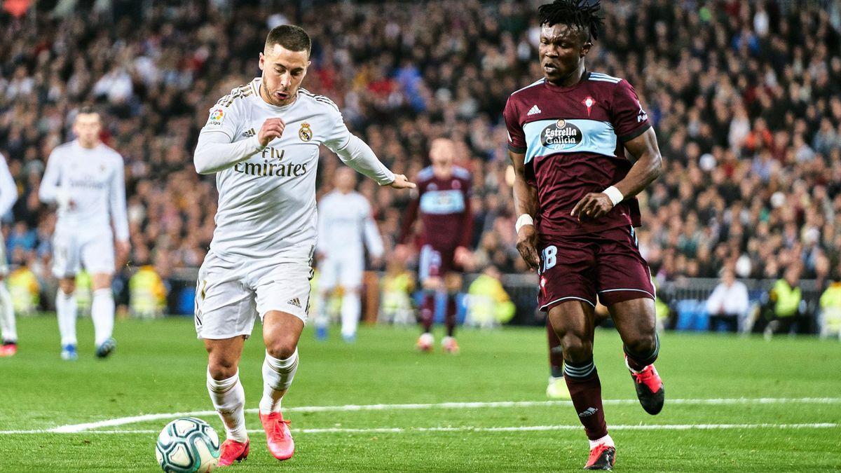 Eden Hazard (Real Madrid) face au Celta Vigo en Liga