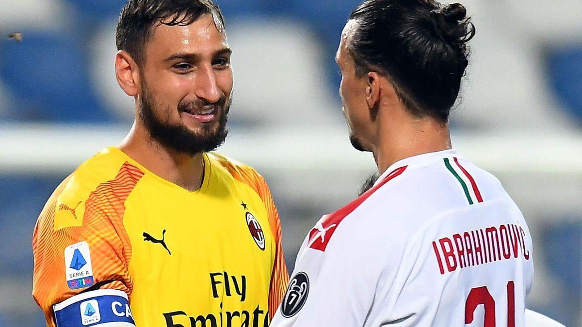 Gianluigi Donnarumma and Zlatan Ibrahimovic