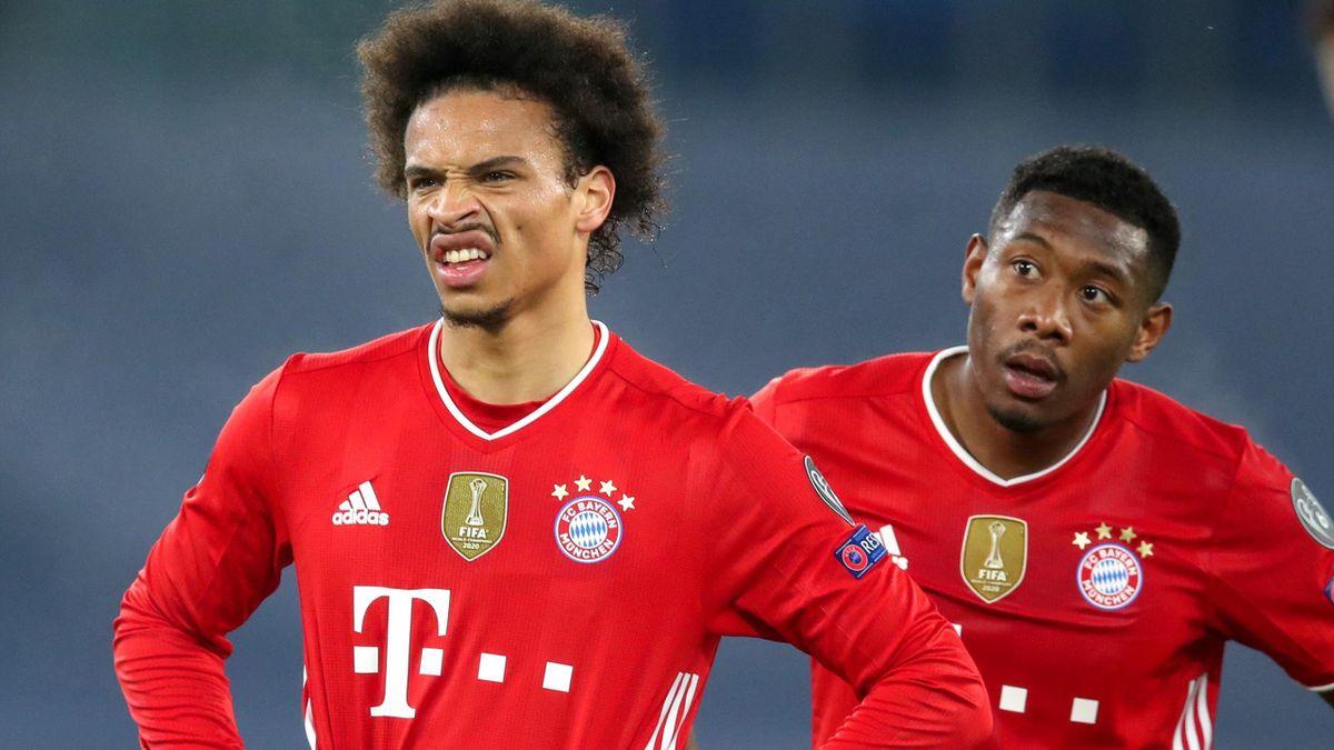 Leroy Sané und David Alaba vom FC Bayern