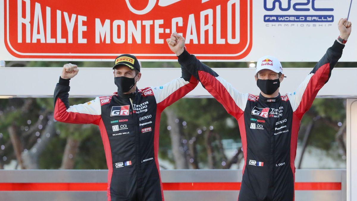 Sébastien Ogier et Julien Ingrassia, vainqueur du Rallye de Monte-Carlo
