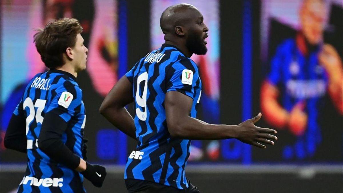 Barella e Lukaku - Inter-Milan - Coppa Italia 2020-2021