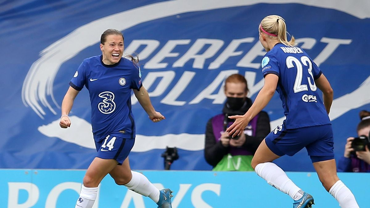 Fran Kirby celebrates giving Chelsea the lead