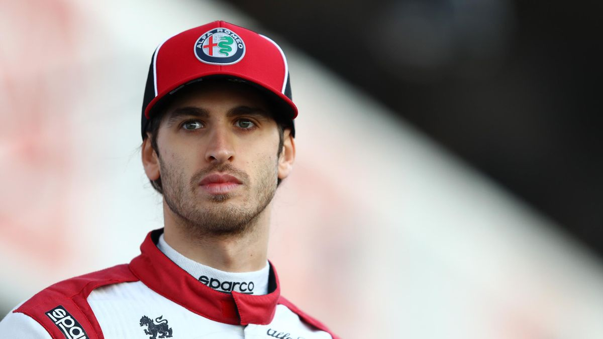 Antonio Giovinazzi of Italy and Alfa Romeo Racing is pictured at the roll out of the Alfa Romeo Racing C39 Ferrari during day one of Formula 1 Winter Testing at Circuit de Barcelona-Catalunya on February 19, 2020