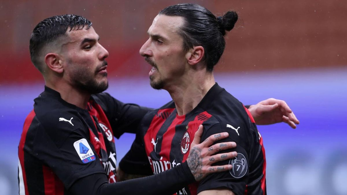 Theo Hernandez e Zlatan Ibrahimovic - Milan - Serie A 2020-2021