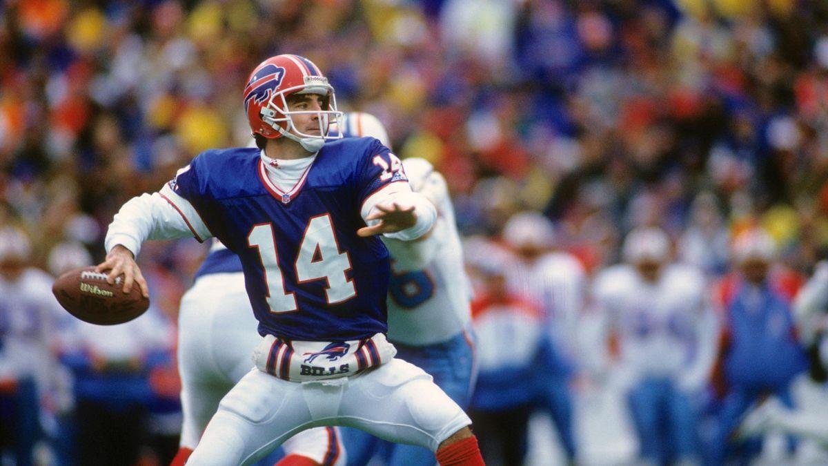 Quarterback Frank Reich 1993 im Spiel der Buffalo Bills gegen die Houston Oilers