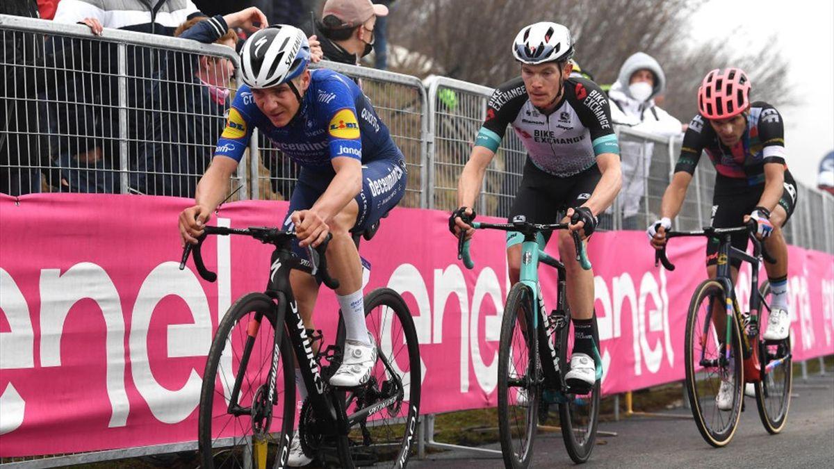 Evenepoel arriva con ritardo sullo Zoncolan - Giro d'Italia 2021