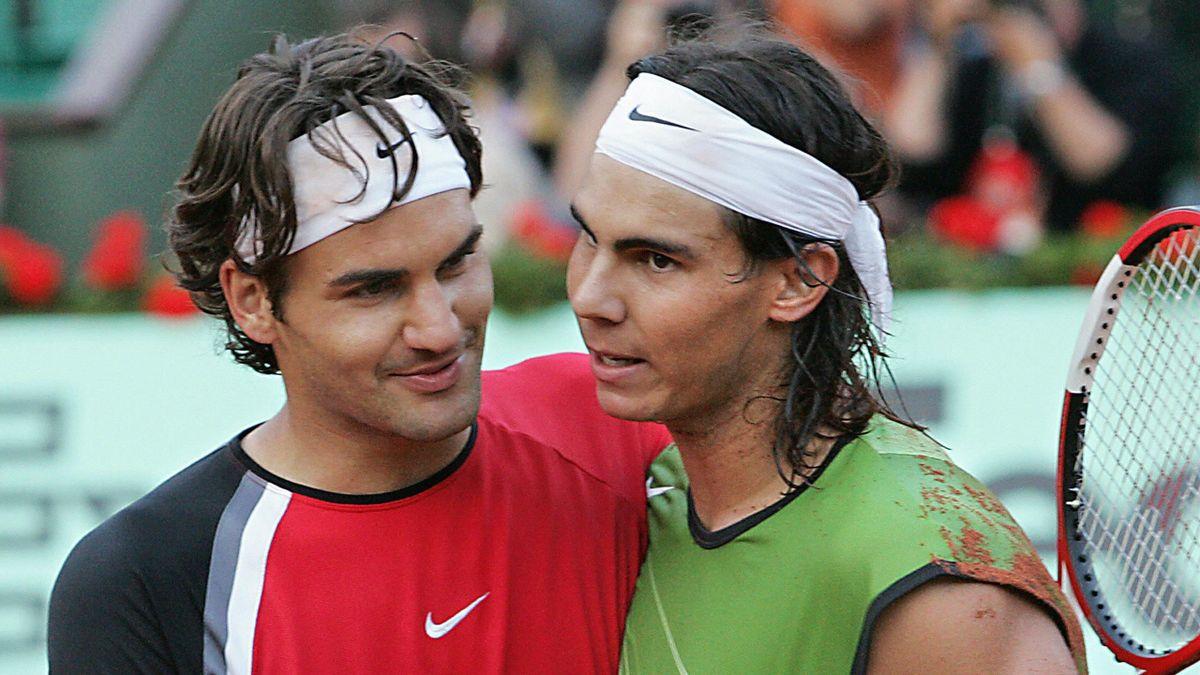 Federer et Nadal à Roland-Garros en 2005