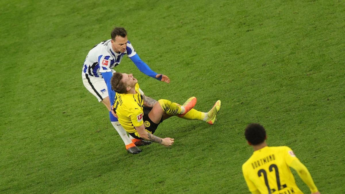 Vladimir Darida verletzt Marco Reus - Borussia Dortmund vs. Hertha BSC