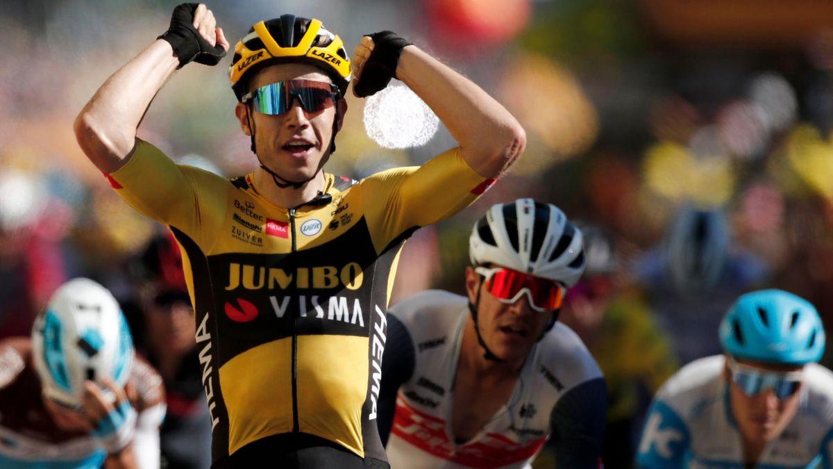 Wout Van Aert (Jumbo), vainqueur de la 7e étape.