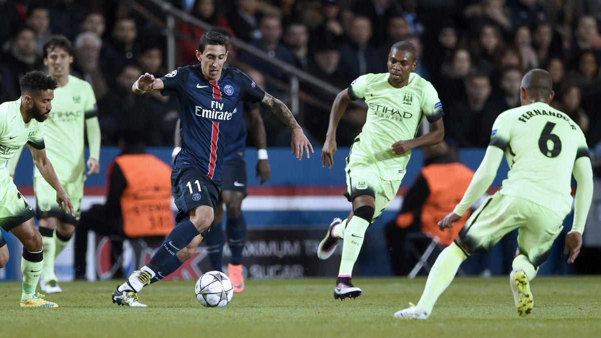 Angel di Maria lors de Paris Saint-Germain - Manchester City en Ligue des champions le 6 avril 2016