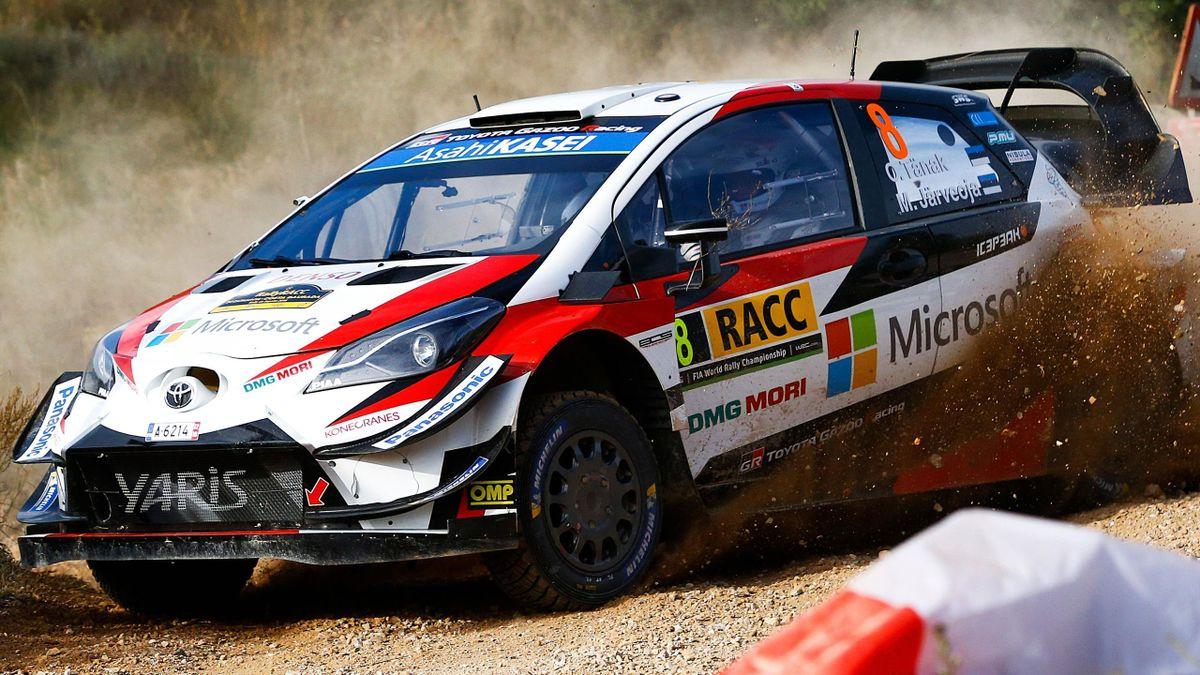 Ott Tanak (Toyota) sur le Rallye de Catalogne