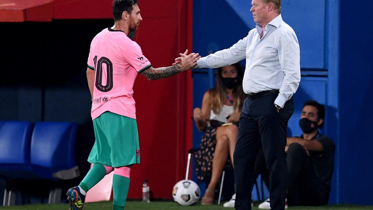 Lionel Messi & Ronald Koeman