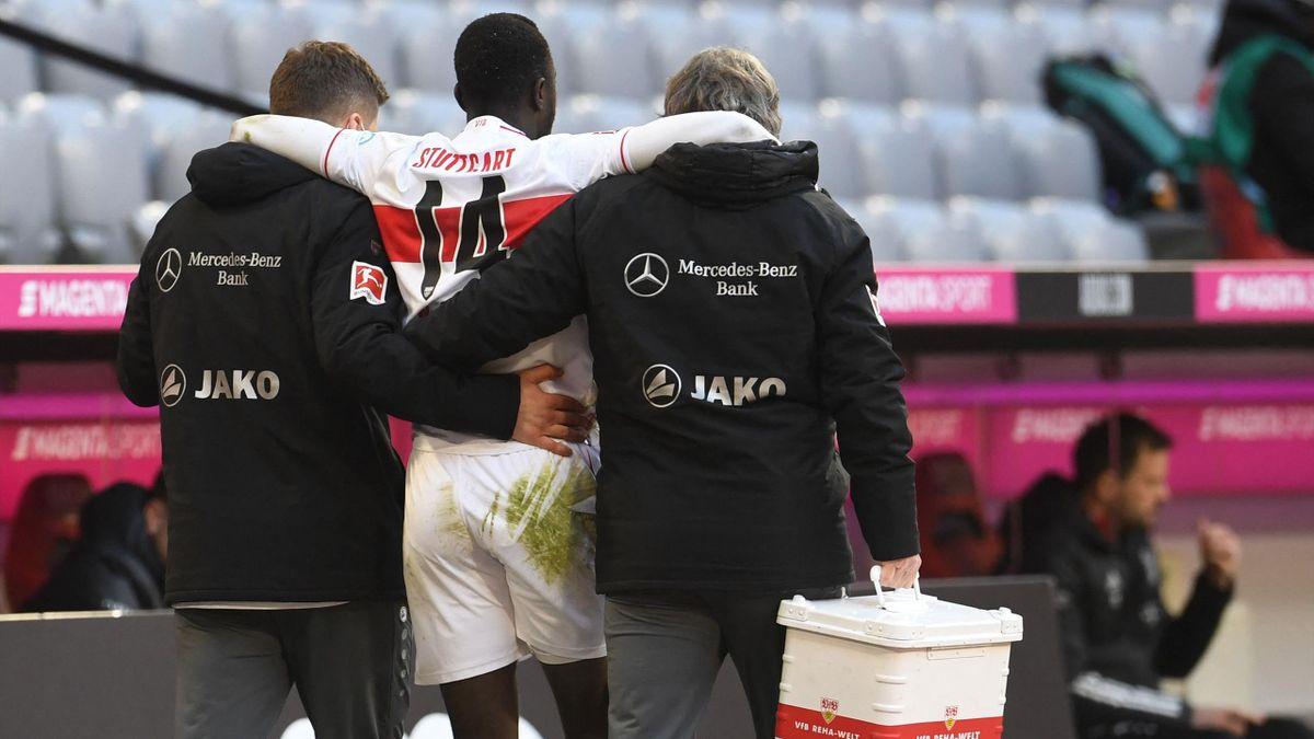Silas Wamangituka verletzt sich gegen den FC Bayern
