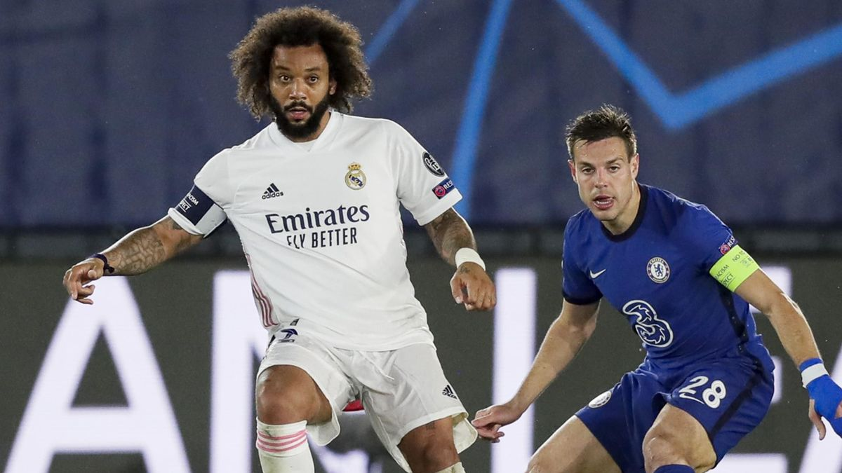 Marcelo in action against Chelsea