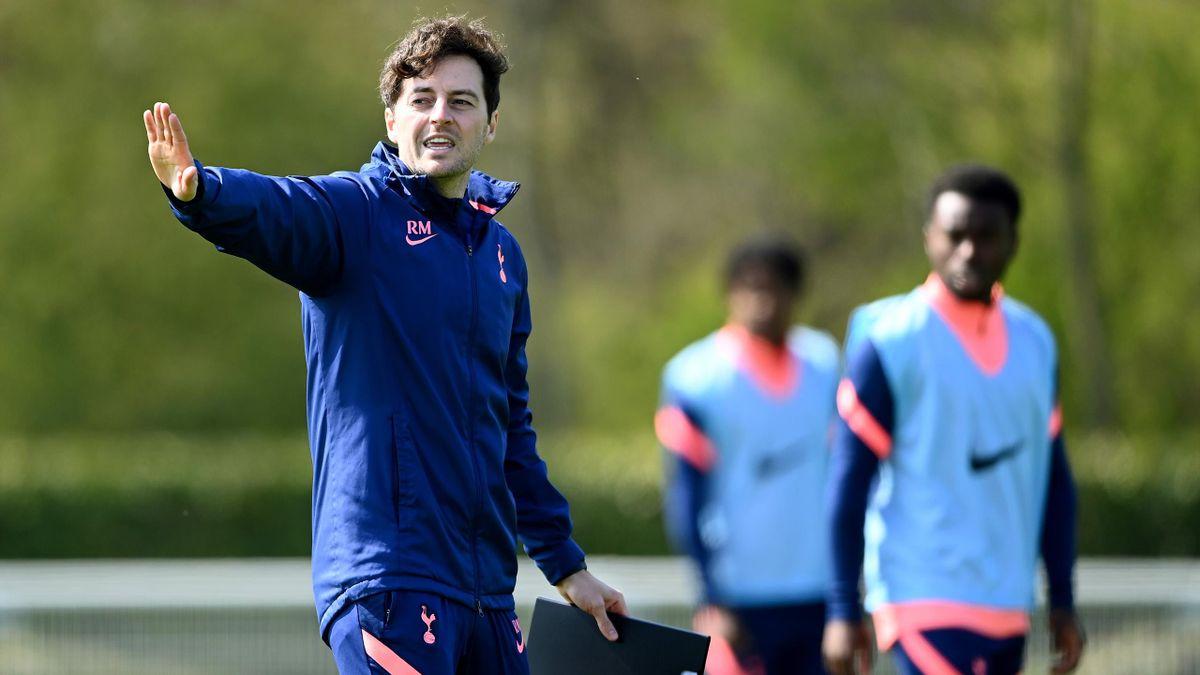 Ryan Mason takes Tottenham training,  Tottenham Hotspur Training Centre on April 20, 2021 in Enfield, England